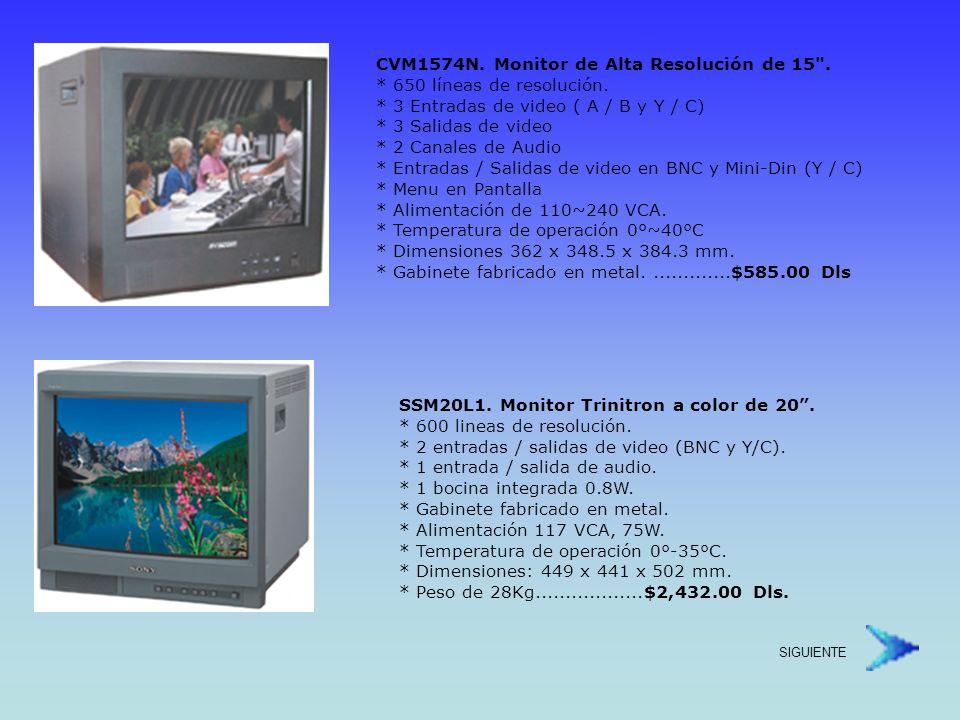 CVM-2154L.Monitor Resolución Estándar de 21 * 450 líneas de resolución.
