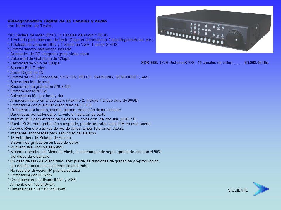 Sistema de Grabación Móvil Digital de Alto Rendimiento Antivibración segun Estándares Militares U.S.A.