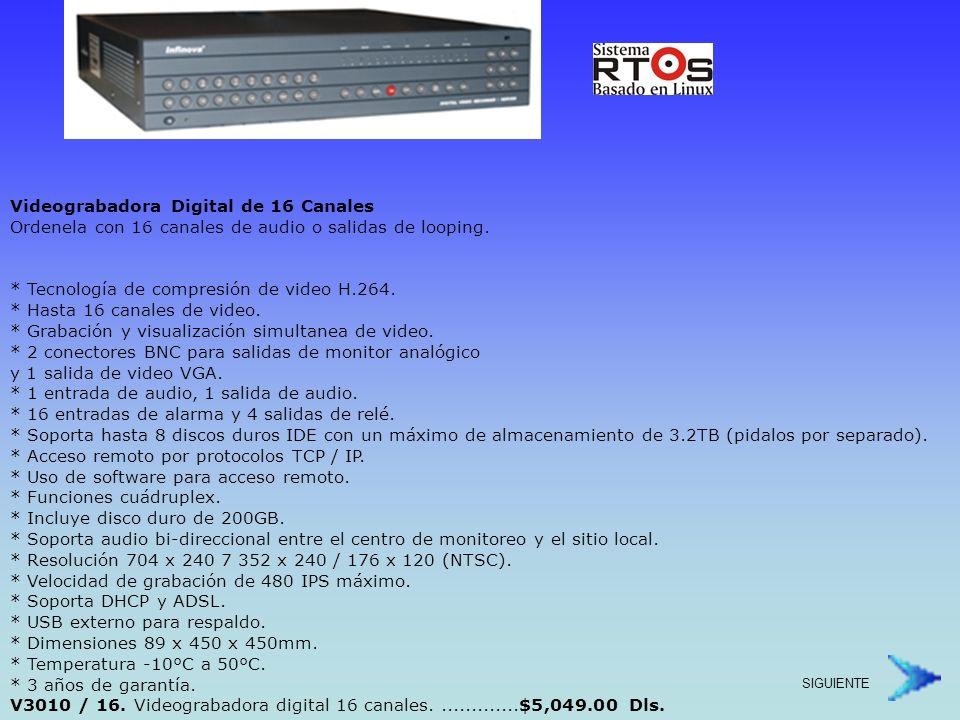 Grabadoras Digital 4 Canales con Audio.