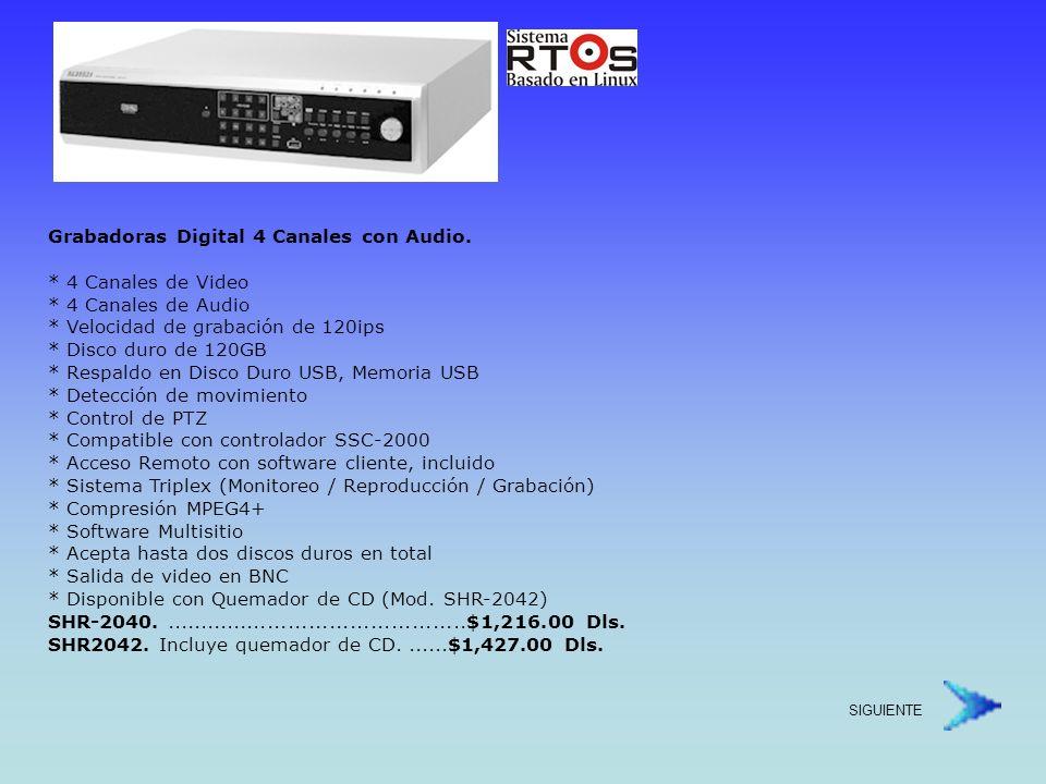 Grabadora Digital de 16 Canales con Audio.