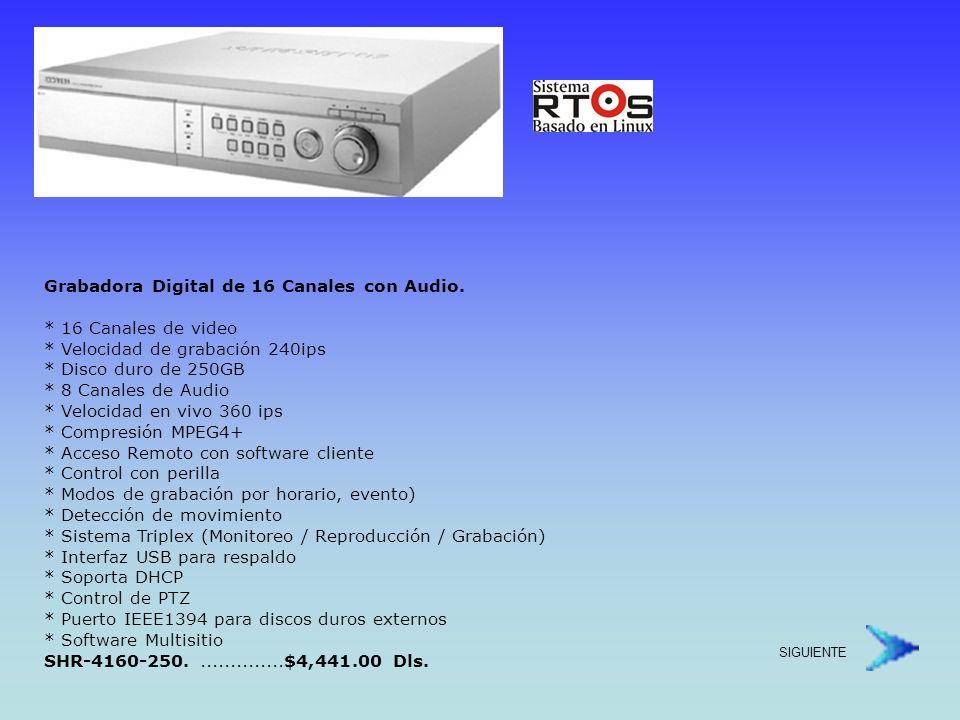 Grabadora Digital, 4 Canales con Inserción de Texto.