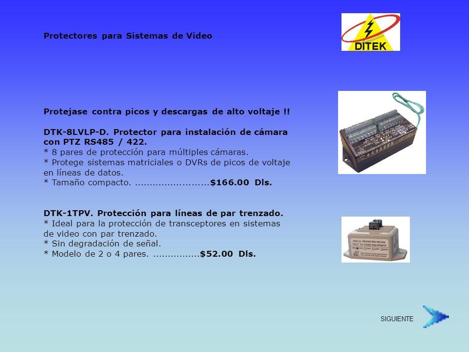 DTK-DP4P-TPV.Protección de sistemas de video con PTZ y par trenzado.