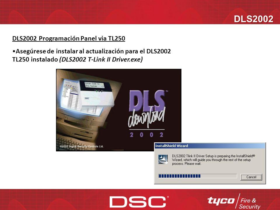 TL250 Console Software Hoja de Programación del TL250 Envía todas las opciones del PC al TL 250 Para finalizar seleccione Done