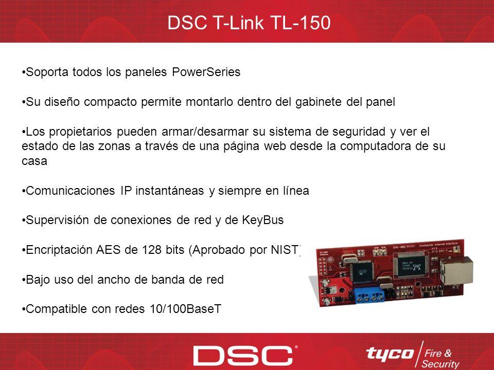 Familia de productos DSC T-Link El TL300 es un comunicador IP universal compatible con la mayoría de paneles de control que usan Contact ID para comun