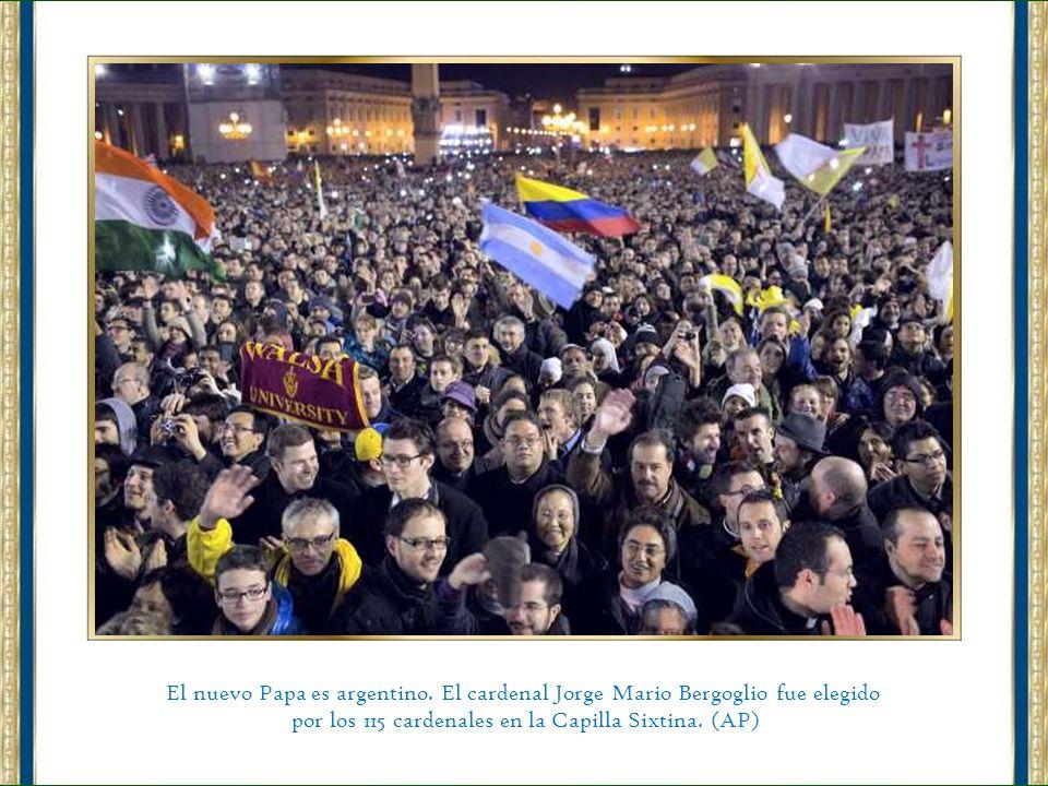 ¡HABEMUS PAPAM! Es el Cardenal Jorge Bergoglio de la Argentina. (AP)