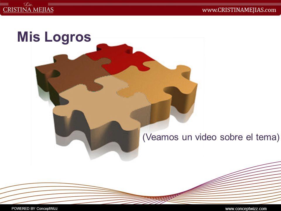 POWERED BY ConceptWizz www.conceptwizz.com Mis Logros (Veamos un video sobre el tema)