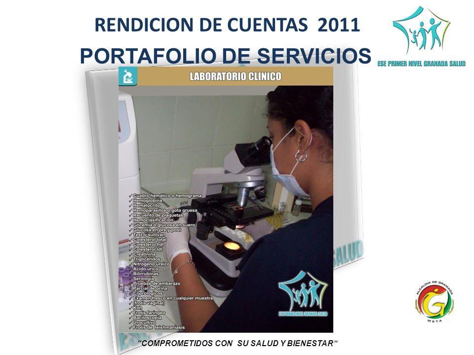 RENDICION DE CUENTAS 2011 COMPROMETIDOS CON SU SALUD Y BIENESTAR PORTAFOLIO DE SERVICIOS