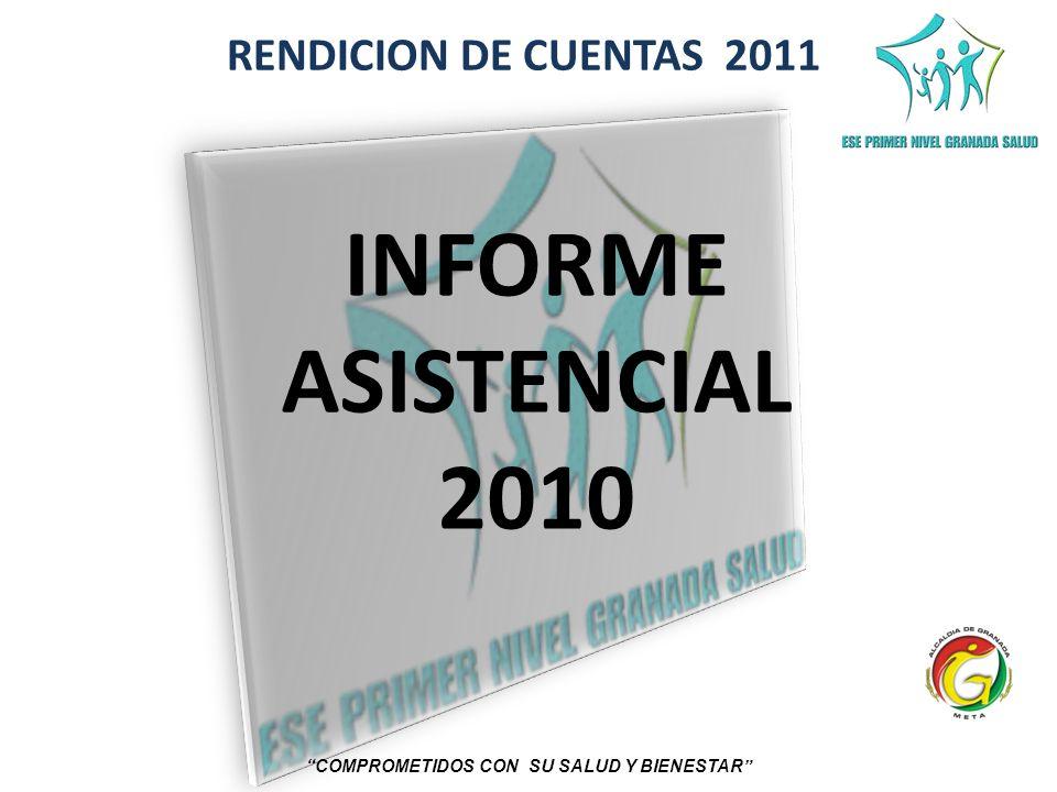 RENDICION DE CUENTAS 2011 COMPROMETIDOS CON SU SALUD Y BIENESTAR INFORME ASISTENCIAL 2010