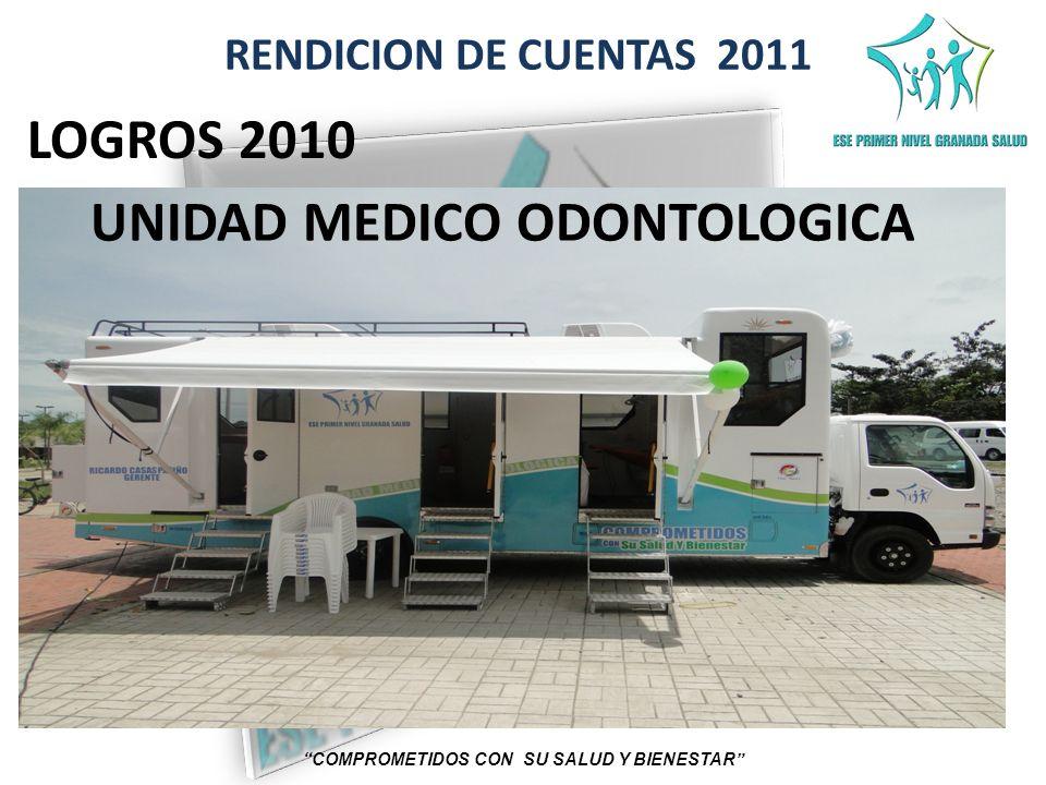 RENDICION DE CUENTAS 2011 COMPROMETIDOS CON SU SALUD Y BIENESTAR LOGROS 2010 UNIDAD MEDICO ODONTOLOGICA