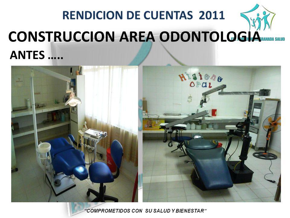 RENDICION DE CUENTAS 2011 COMPROMETIDOS CON SU SALUD Y BIENESTAR CONSTRUCCION AREA ODONTOLOGIA ANTES …..