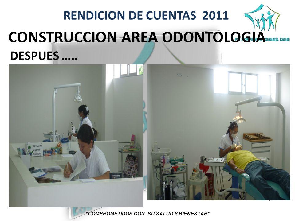 RENDICION DE CUENTAS 2011 COMPROMETIDOS CON SU SALUD Y BIENESTAR CONSTRUCCION AREA ODONTOLOGIA DESPUES …..