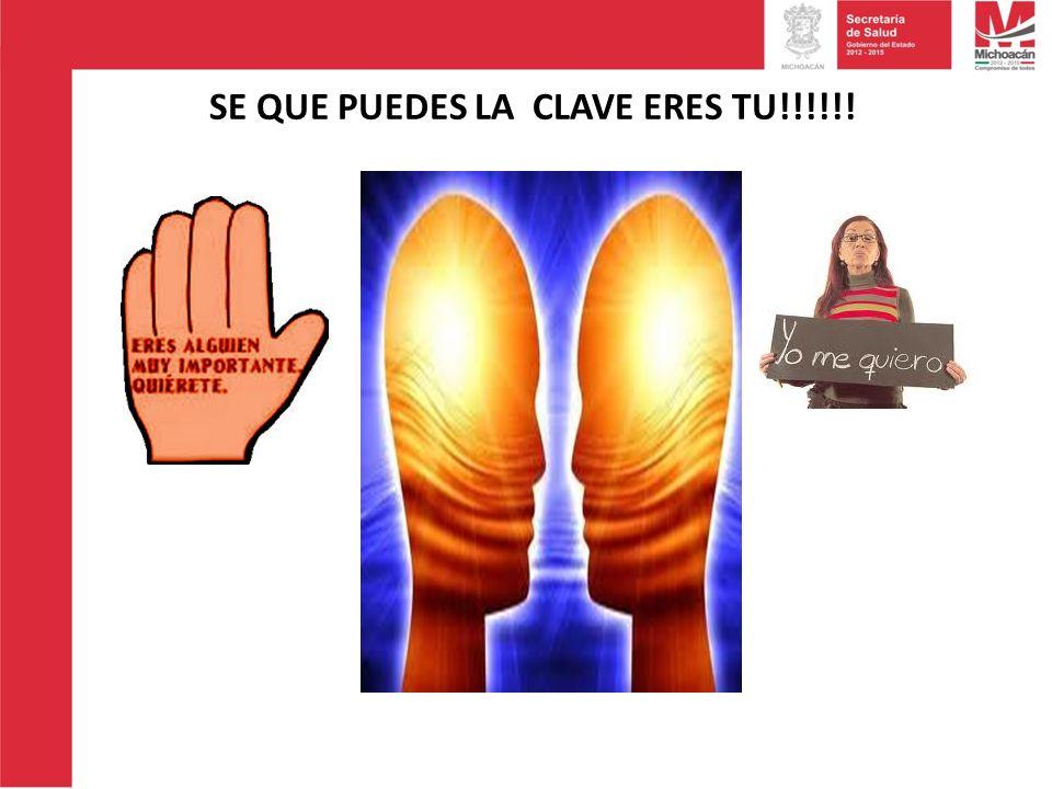 SE QUE PUEDES LA CLAVE ERES TU!!!!!!