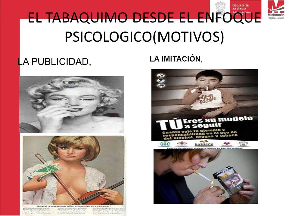 EL TABAQUIMO DESDE EL ENFOQUE PSICOLOGICO(MOTIVOS) LA PUBLICIDAD, LA IMITACIÓN,