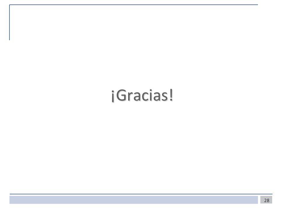 28 ¡Gracias!