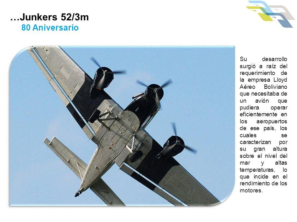 Su desarrollo surgió a raíz del requerimiento de la empresa Lloyd Aéreo Boliviano que necesitaba de un avión que pudiera operar eficientemente en los