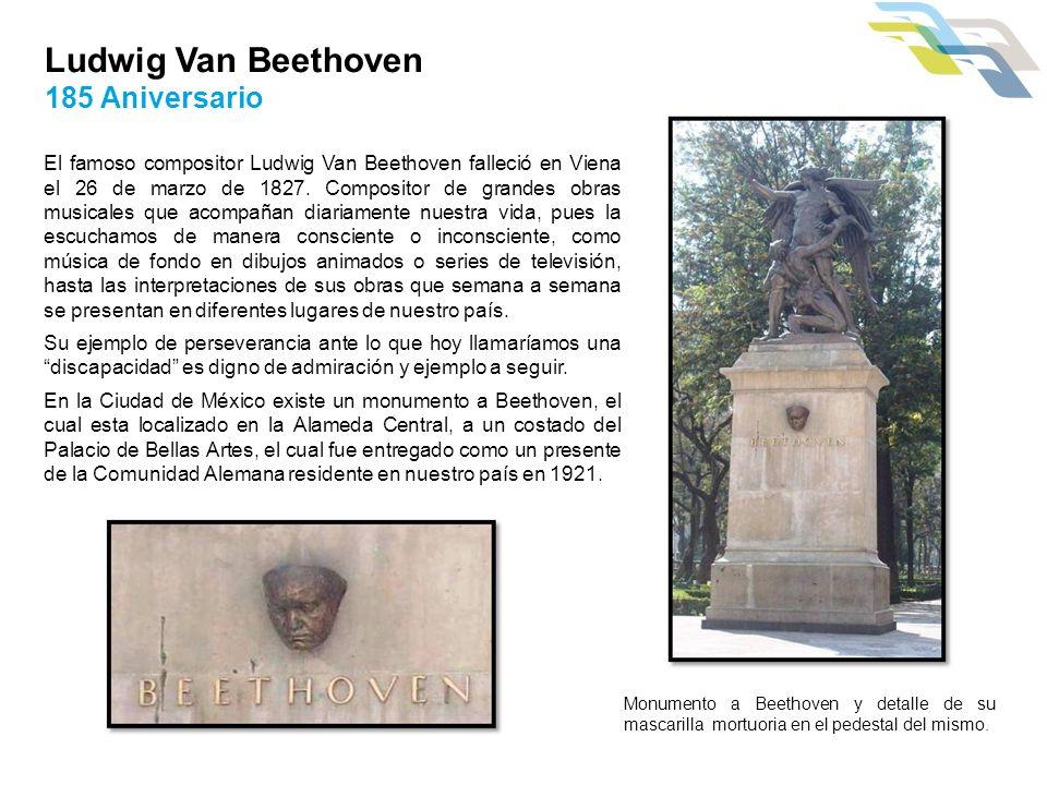 Ludwig Van Beethoven 185 Aniversario El famoso compositor Ludwig Van Beethoven falleció en Viena el 26 de marzo de 1827. Compositor de grandes obras m