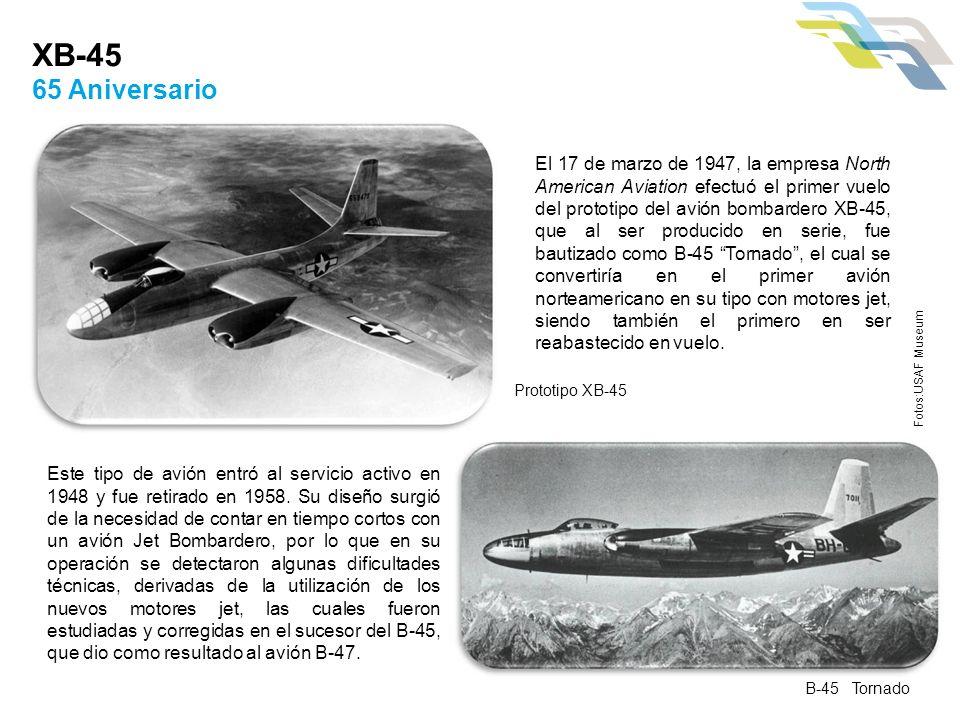 Este tipo de avión entró al servicio activo en 1948 y fue retirado en 1958. Su diseño surgió de la necesidad de contar en tiempo cortos con un avión J