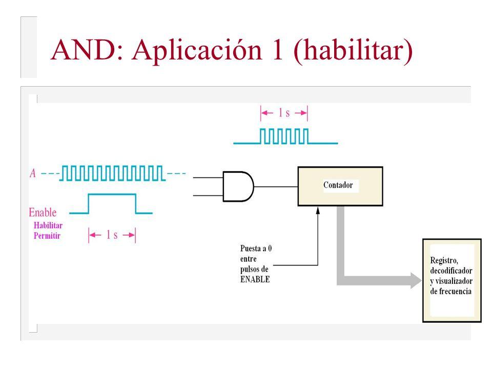 AND: Aplicación 1 (habilitar)