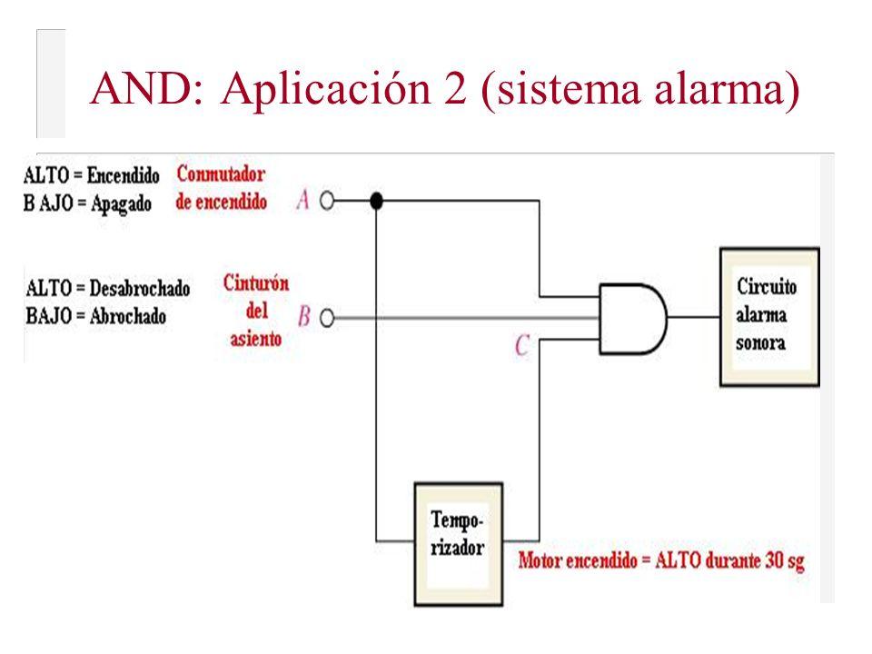 AND: Aplicación 2 (sistema alarma)