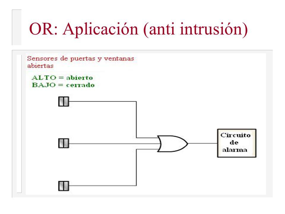 OR: Aplicación (anti intrusión)