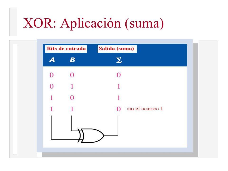 XOR: Aplicación (suma)