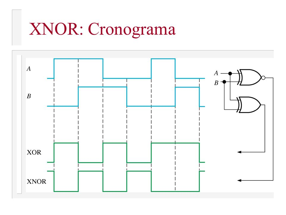 XNOR: Cronograma