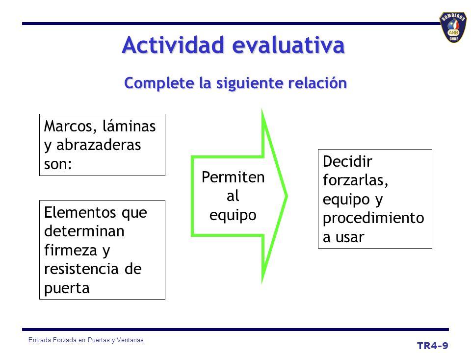 Entrada Forzada en Puertas y Ventanas Actividad evaluativa TR4-9 Marcos, láminas y abrazaderas son: Elementos que determinan firmeza y resistencia de
