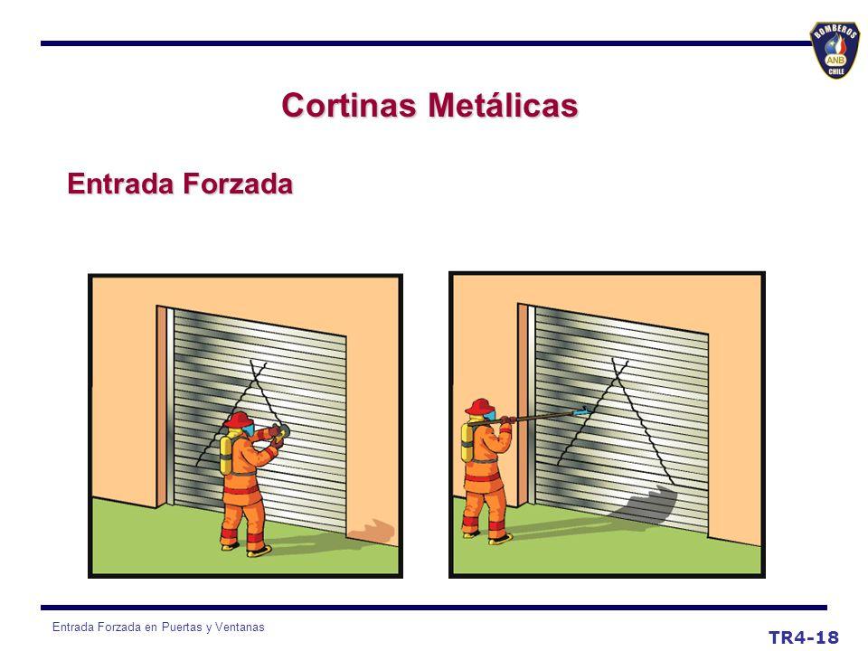 Entrada Forzada en Puertas y Ventanas TR4-18 Cortinas Metálicas Entrada Forzada