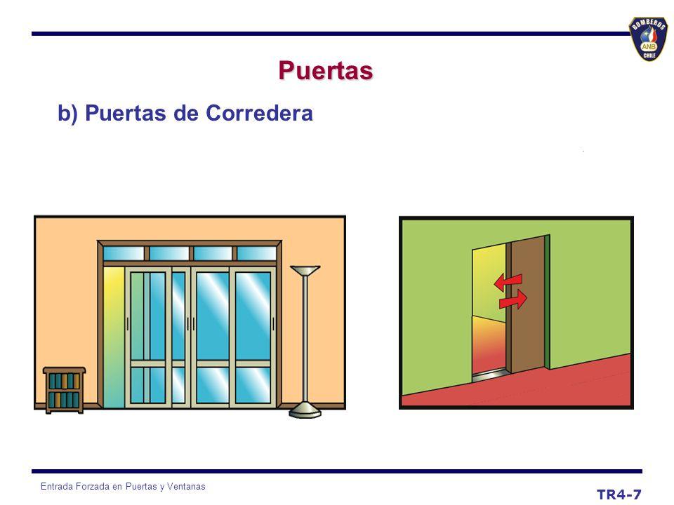 Entrada Forzada en Puertas y Ventanas Puertas TR4-8 c) Puertas Giratorias