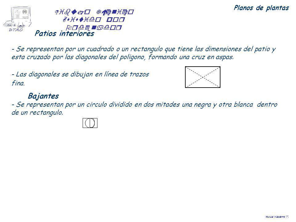 Dibujo Técnico Asistido por Ordenador DTAO Rosa Navarro T. Planos de plantas Patios interiores - Se representan por un cuadrado o un rectangulo que ti