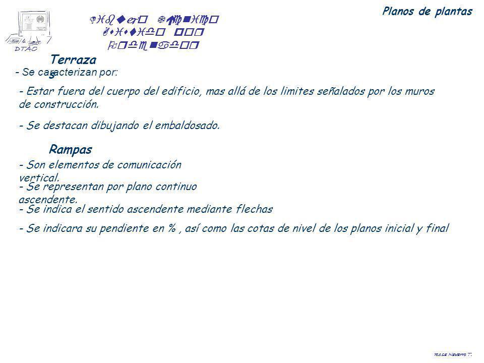 Dibujo Técnico Asistido por Ordenador DTAO Rosa Navarro T. Terraza s - Se caracterizan por: Planos de plantas - Estar fuera del cuerpo del edificio, m