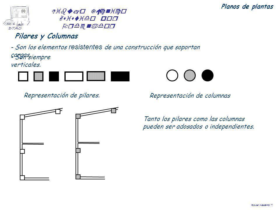 Dibujo Técnico Asistido por Ordenador DTAO Rosa Navarro T. Planos de plantas Pilares y Columnas - Son los elementos resistentes de una construcción qu
