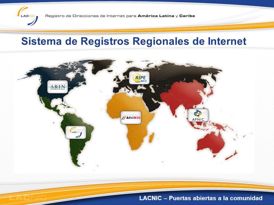 LACNIC – Puertas abiertas a la comunidad Región de Cobertura de LACNIC LACNIC sirve a 29 territorios en América Latina y el Caribe