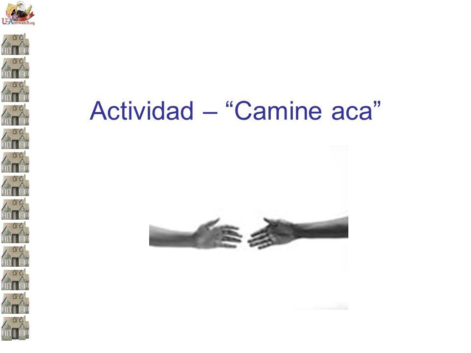 Actividad – Camine aca