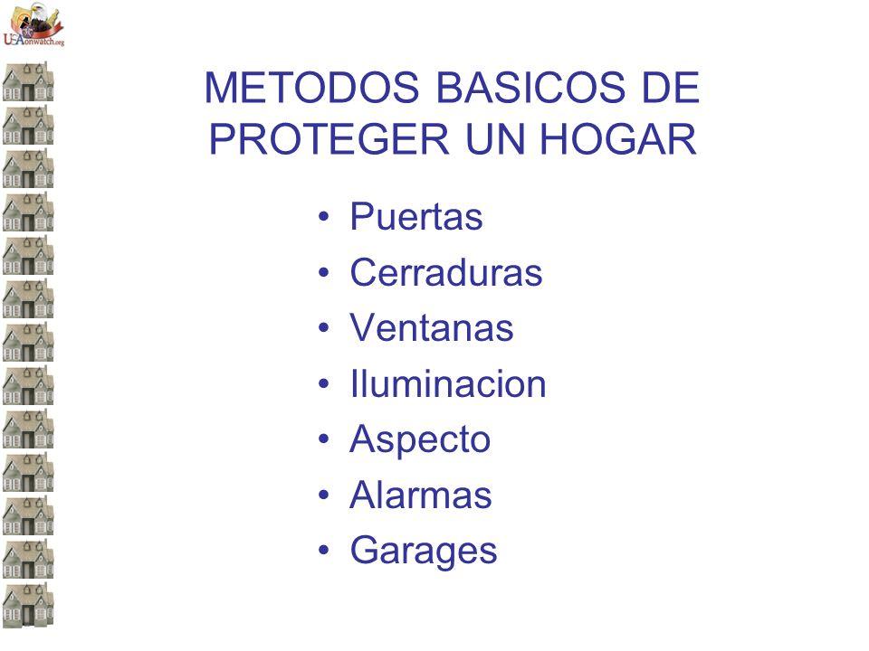 METODOS BASICOS DE PROTEGER UN HOGAR Puertas Cerraduras Ventanas Iluminacion Aspecto Alarmas Garages