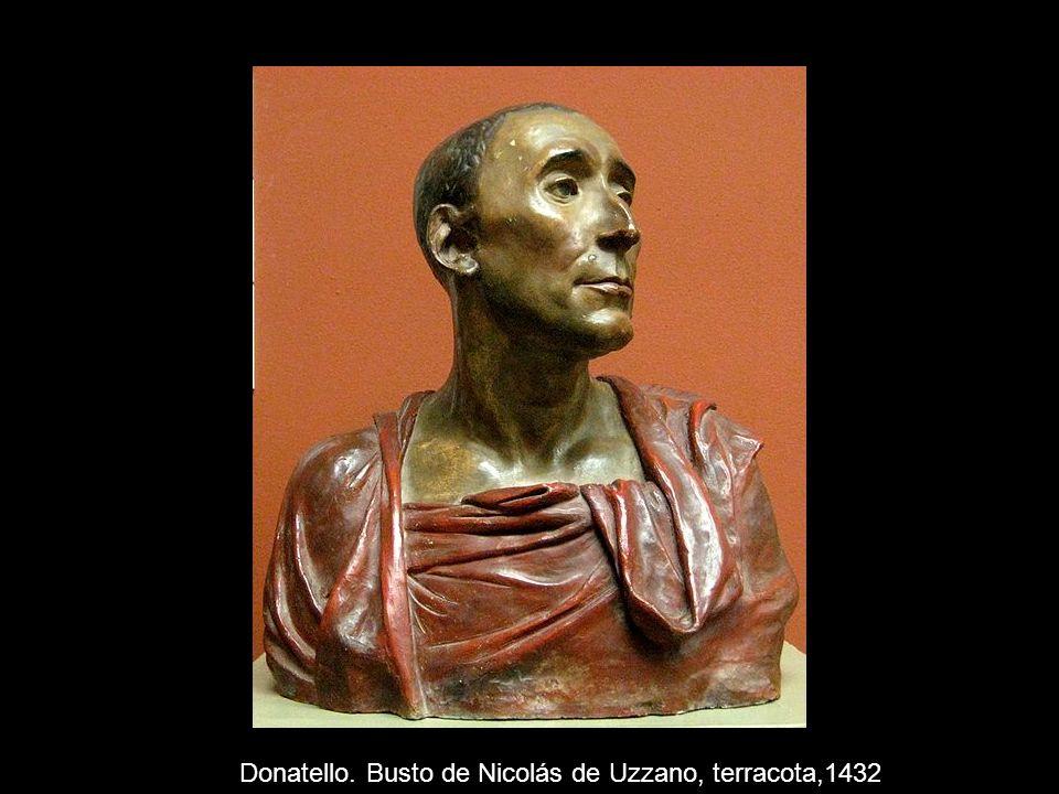 Donatello. Busto de Nicolás de Uzzano, terracota,1432