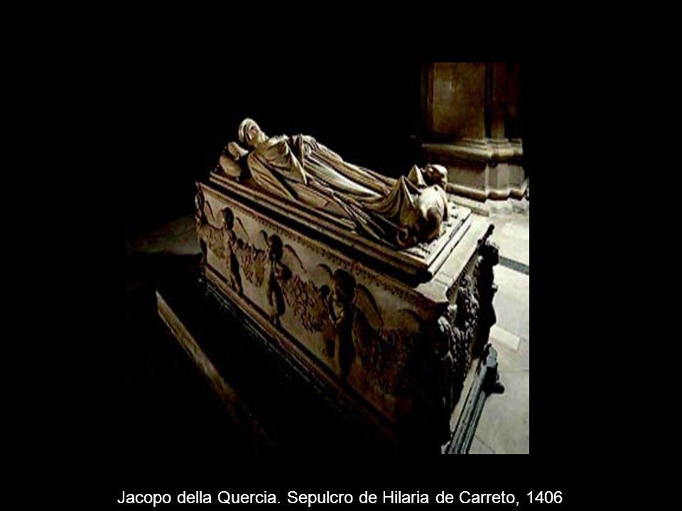 Jacopo della Quercia. Sepulcro de Hilaria de Carreto, 1406