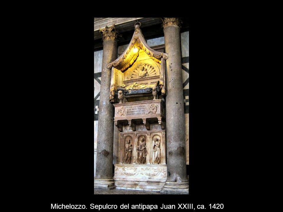 Michelozzo. Sepulcro del antipapa Juan XXIII, ca. 1420