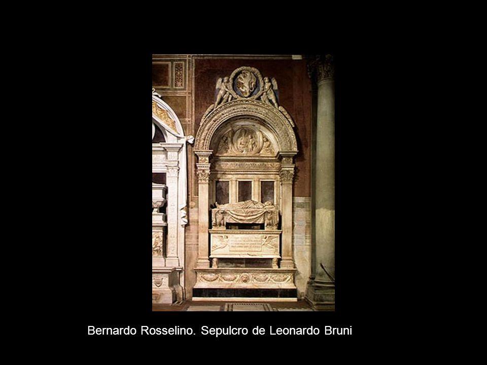 Bernardo Rosselino. Sepulcro de Leonardo Bruni