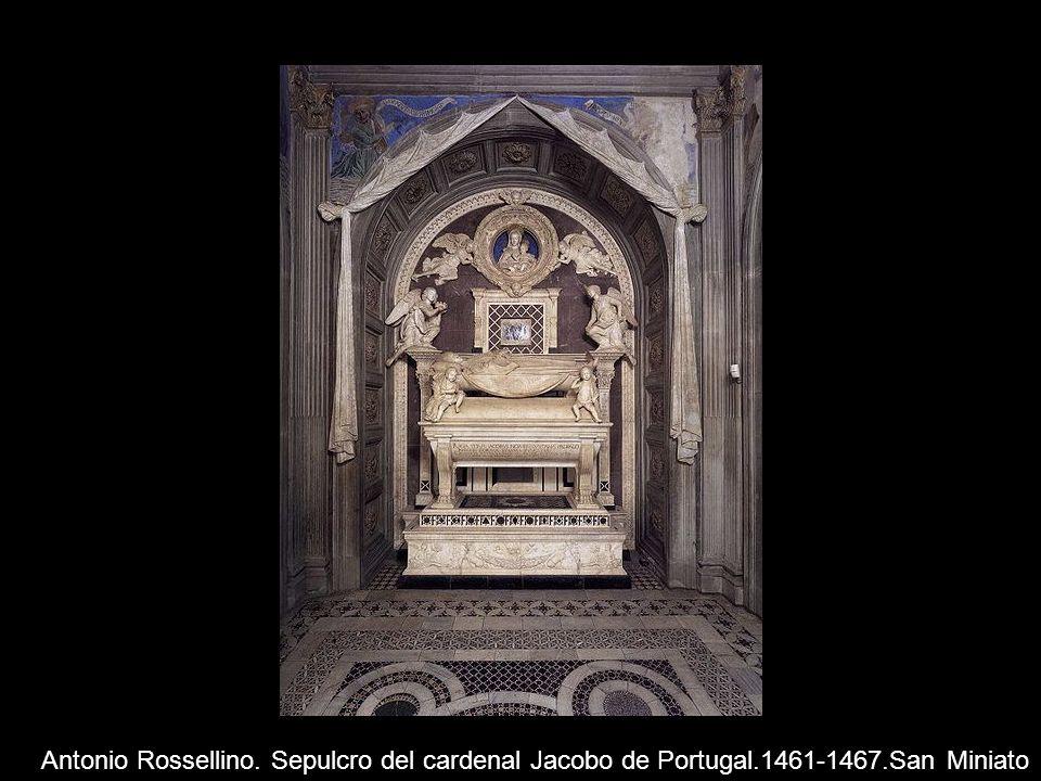 Antonio Rossellino. Sepulcro del cardenal Jacobo de Portugal.1461-1467.San Miniato
