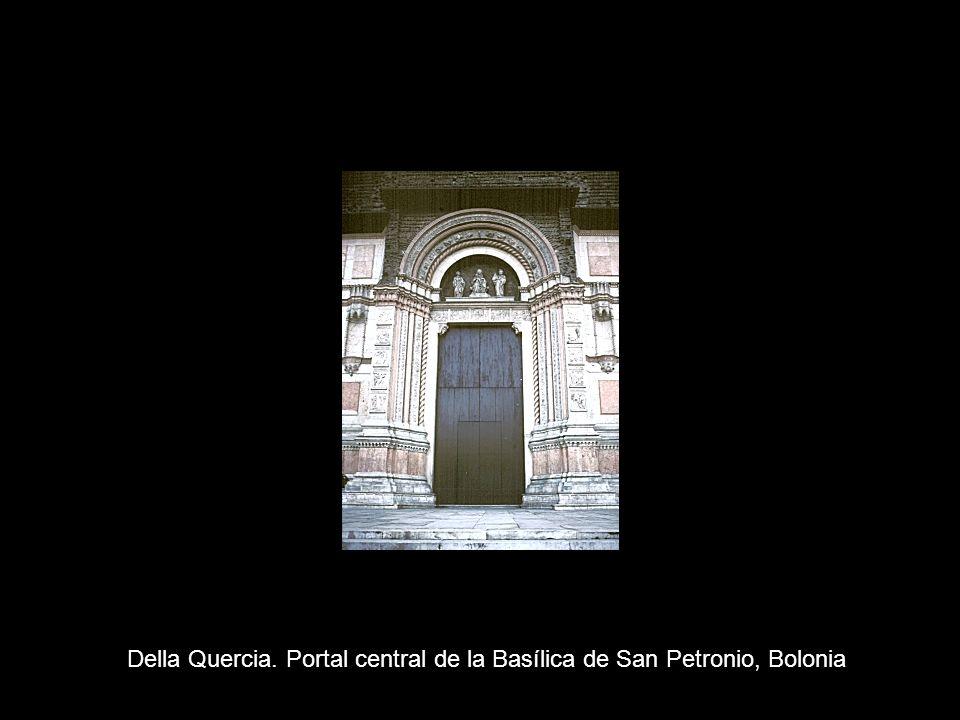 Della Quercia. Portal central de la Basílica de San Petronio, Bolonia