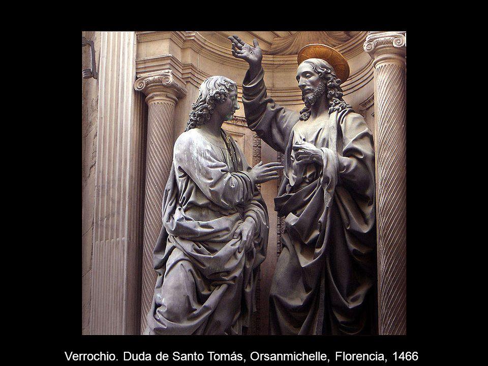 Verrochio. Duda de Santo Tomás, Orsanmichelle, Florencia, 1466