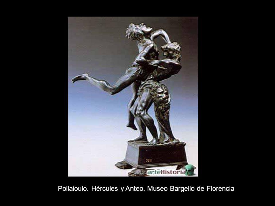Pollaioulo. Hércules y Anteo. Museo Bargello de Florencia
