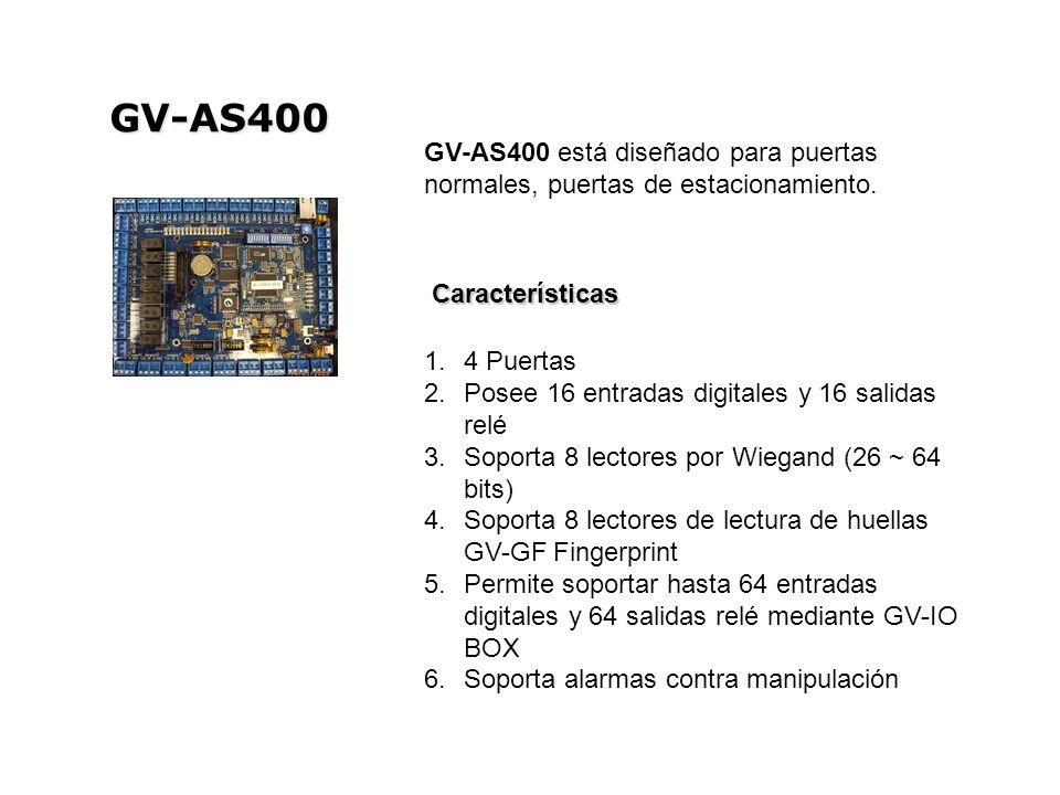 GV-AS400 GV-AS400 está diseñado para puertas normales, puertas de estacionamiento.