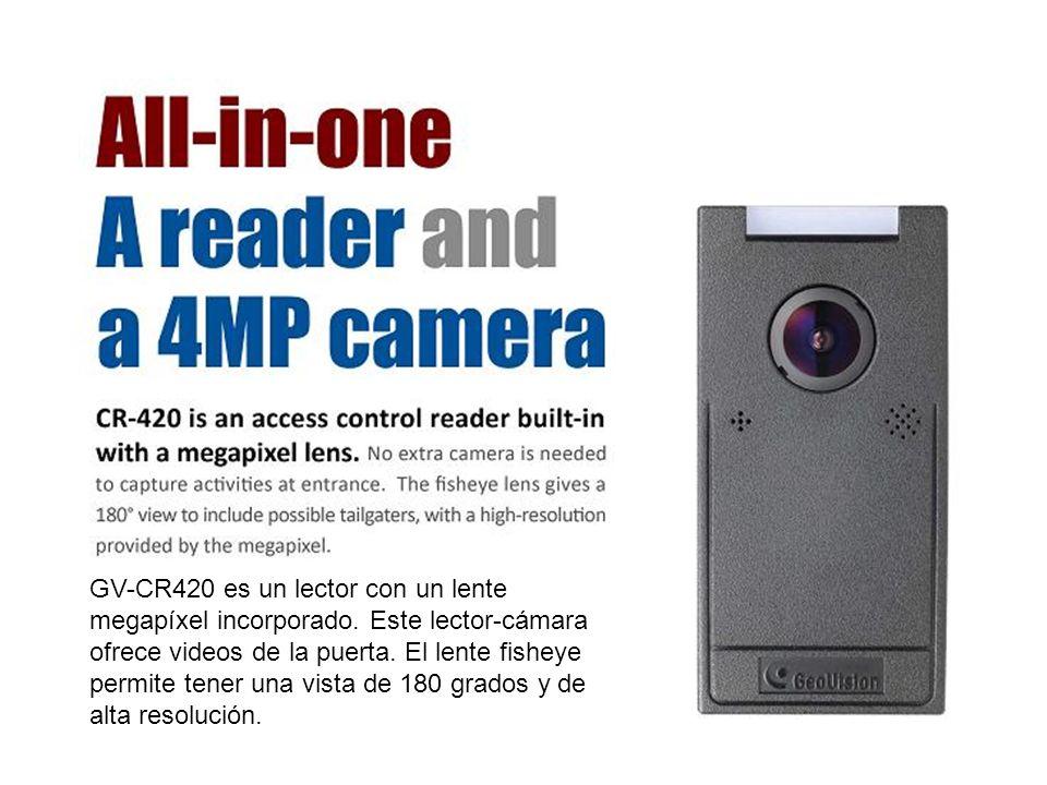 GV-CR420 es un lector con un lente megapíxel incorporado.