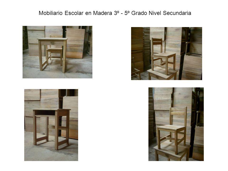 Mobiliario Escolar en Madera 3º - 5º Grado Nivel Secundaria