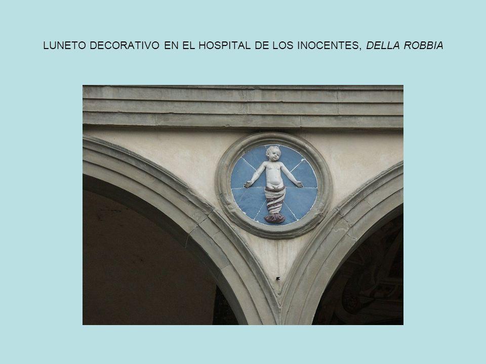 LUNETO DECORATIVO EN EL HOSPITAL DE LOS INOCENTES, DELLA ROBBIA