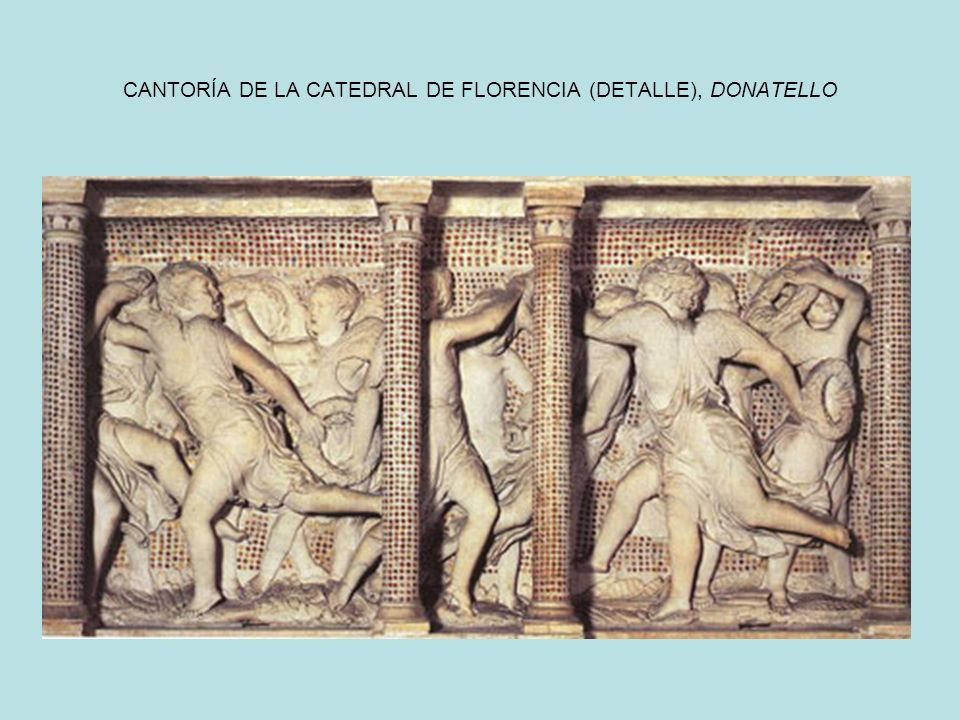 CANTORÍA DE LA CATEDRAL DE FLORENCIA (DETALLE), DONATELLO