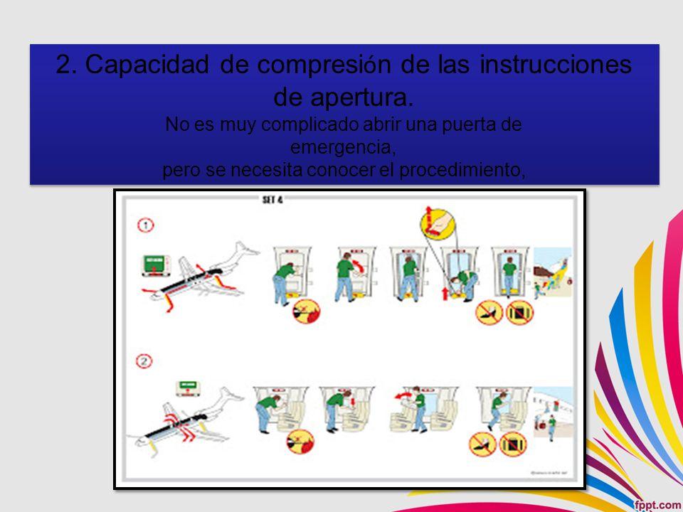 2.Capacidad de compresi ó n de las instrucciones de apertura.