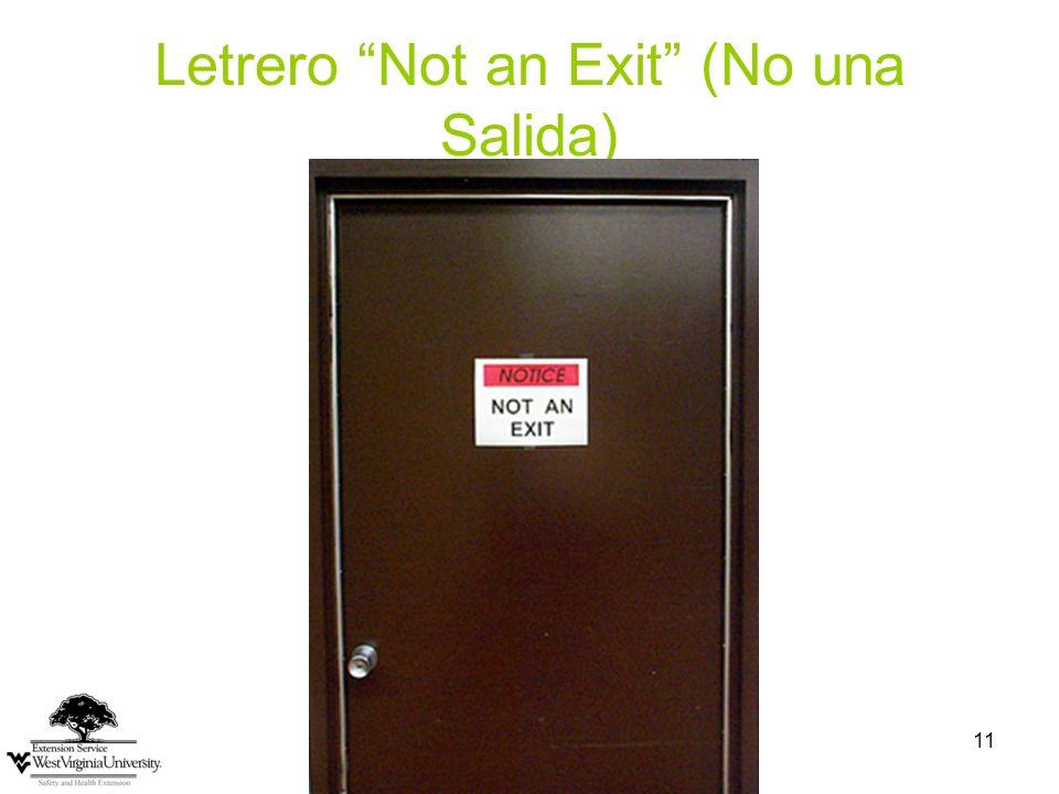 11 Letrero Not an Exit (No una Salida)